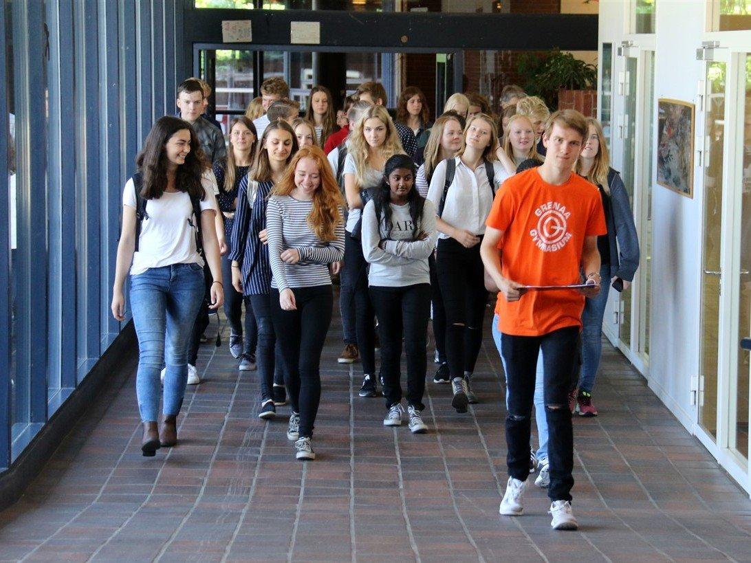 Første skoledag Grenaa Gymnasium