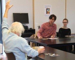 Svend Aage Madsen på besøg i Opdigtet Onsdag