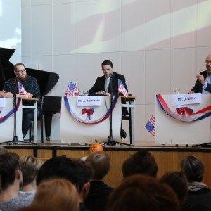 Amerikansk valgdebat på Grenaa Gymnasium i 2016