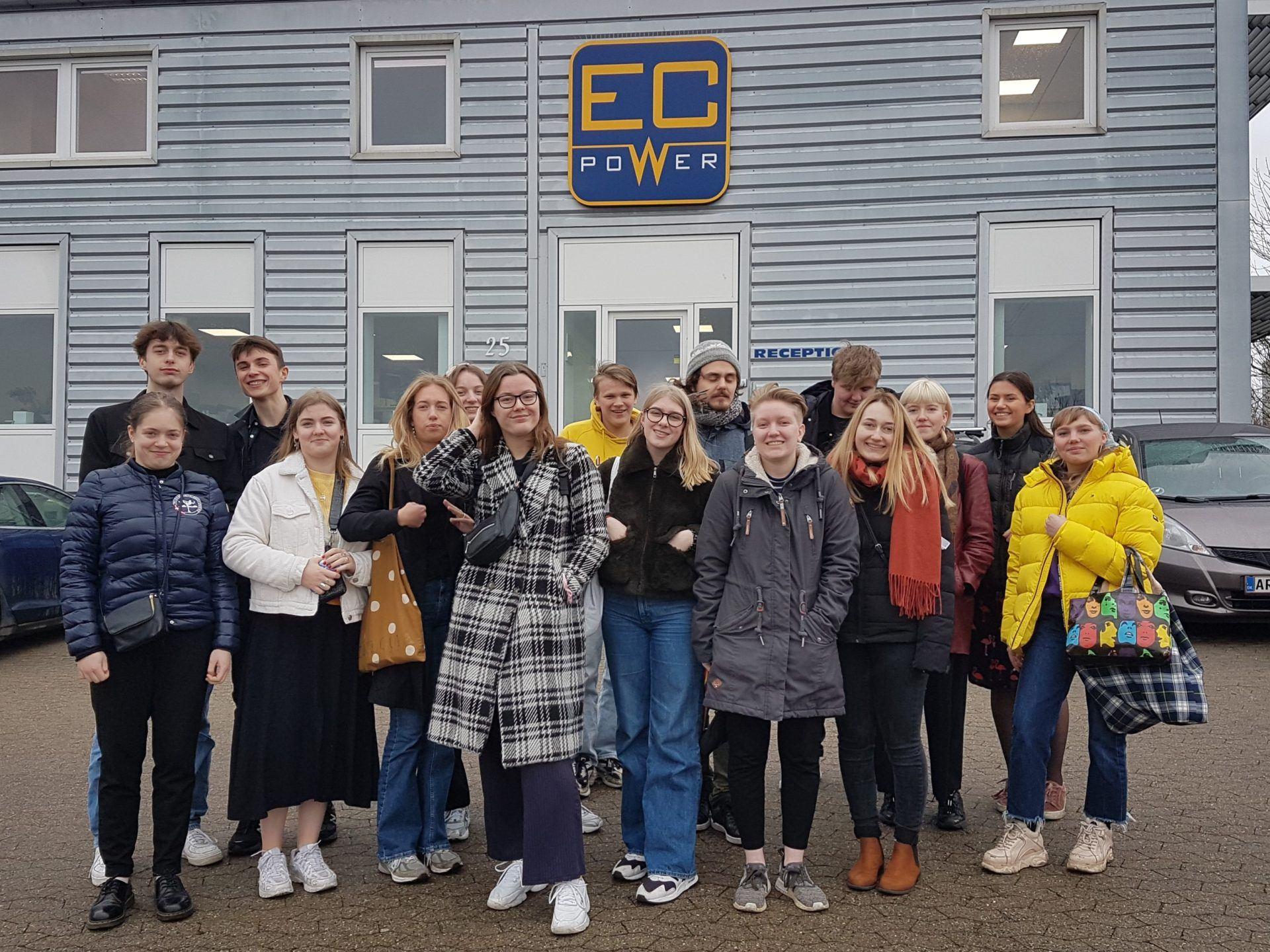 Tyskelever fra Grenaa Gymnasium besøgte EC Powers
