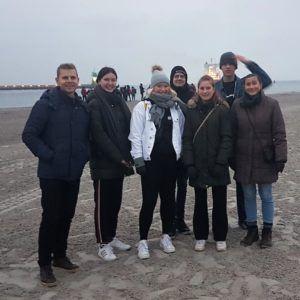 Elever fra 1.akm i Lübeck i forbindelse med Erasmus+ 2019