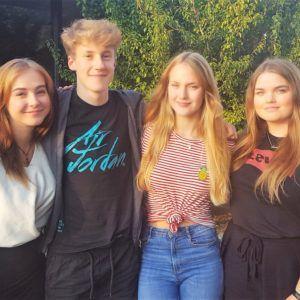 Elever fra Lübeck på besøg på Grenaa Gymnasium