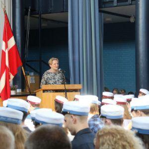 Rektor Helene Bendorff Kristensen holder dimissionstale 2018
