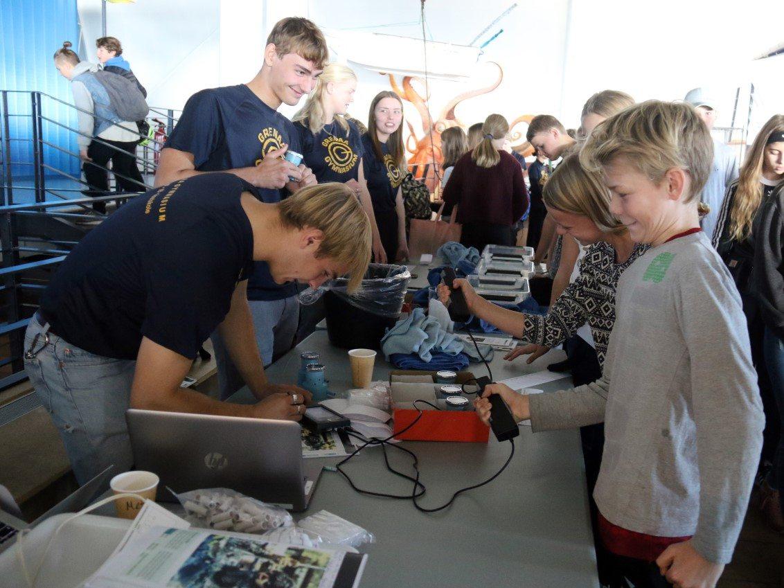 Grenaa Gymnasium naturvidenskabsfestival Kattegatcentret