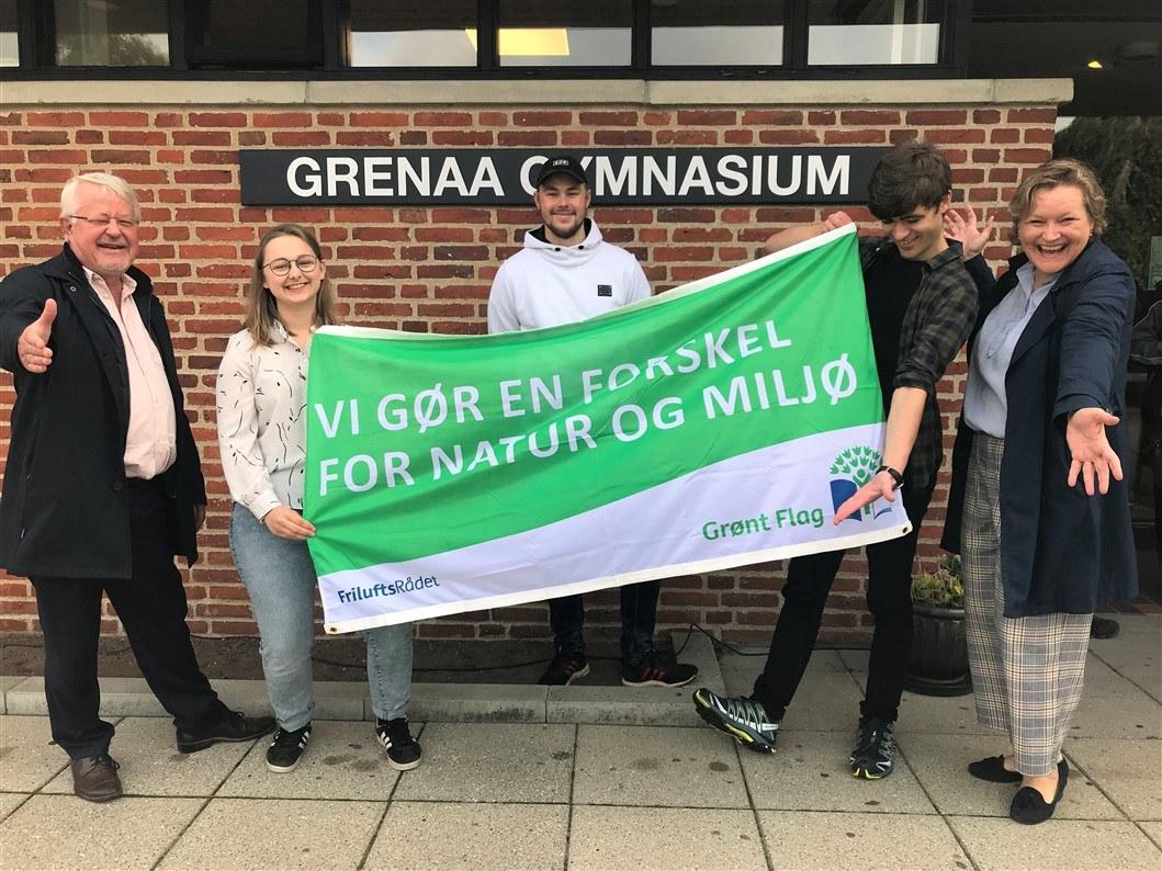 Friluftsrådets Grønt Flag på Grenaa Gymnasium