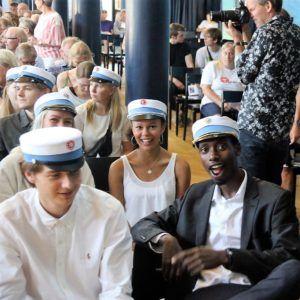 HF-studenter ved dimissionen 2018 på Grenaa Gymnasium