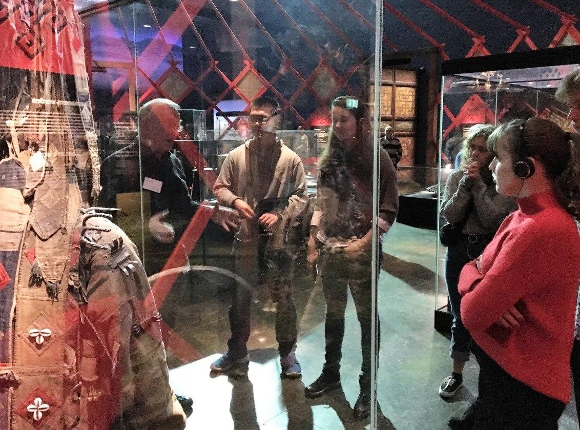 IB students on TOK and CAS trip at Moesgaard Museum