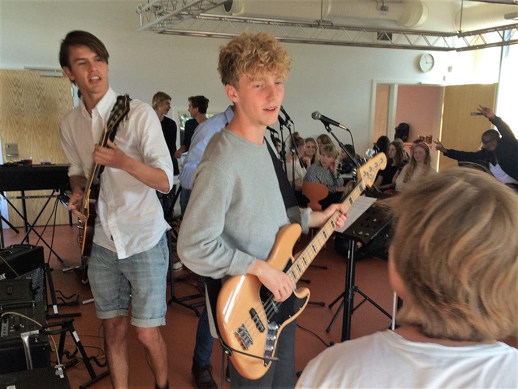 Musikcafe på Grenaa Gymnasium