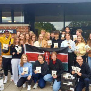 Nordisk Tang sponserede tangchips til elever på Grenaa Gymnasium
