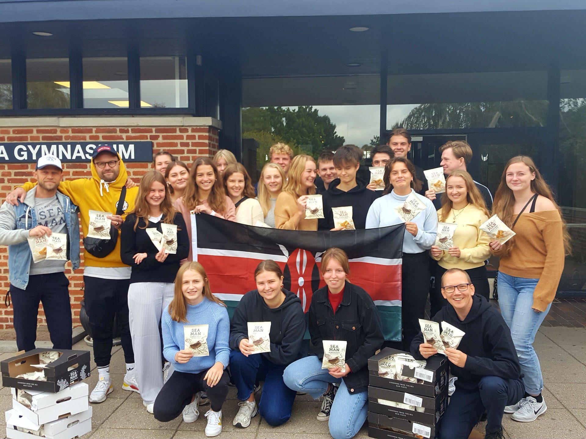Seaman Seaweed Chips sponserede chips til elever fra Grenaa Gymnasium