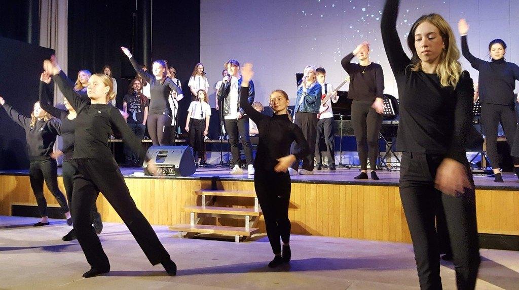 Teaterkoncert på Grenaa Gymnasium
